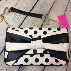 NWT! Betsey Johnson Polkadot Purse